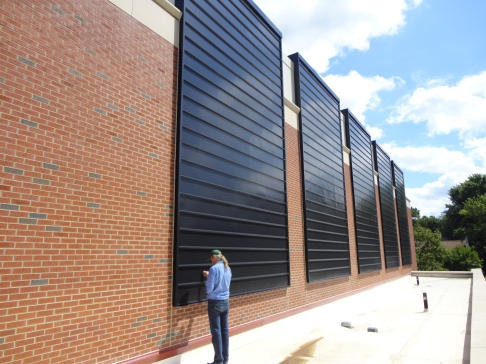 Lou Vogel commissioning solar preheat wall