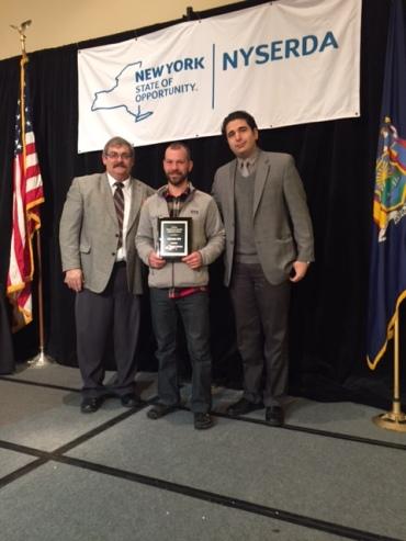 Nick Kirk receives his award