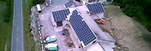 Aerial of solar arry